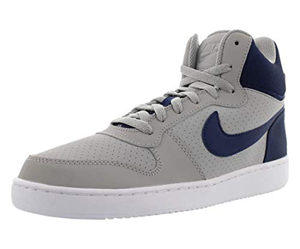 Lyst - Nike Court Borough Mid Basketball Shoes in Blue for Men f9e37f984