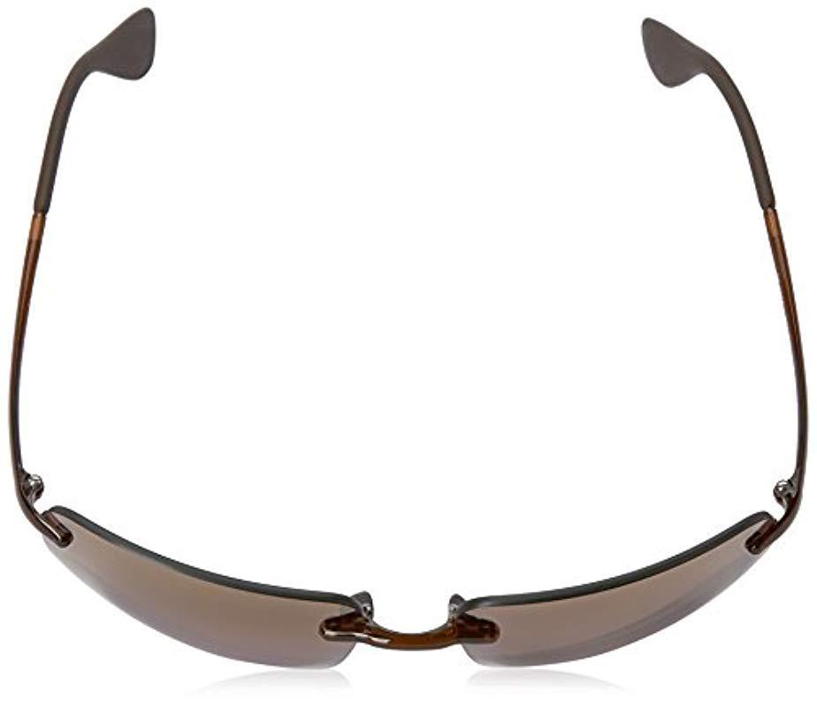 4919151c7f Ray-Ban - Black Rectangle Rimless Sunglasses In Brown Purple Mirror  Chromance Rb4255 604 . View fullscreen