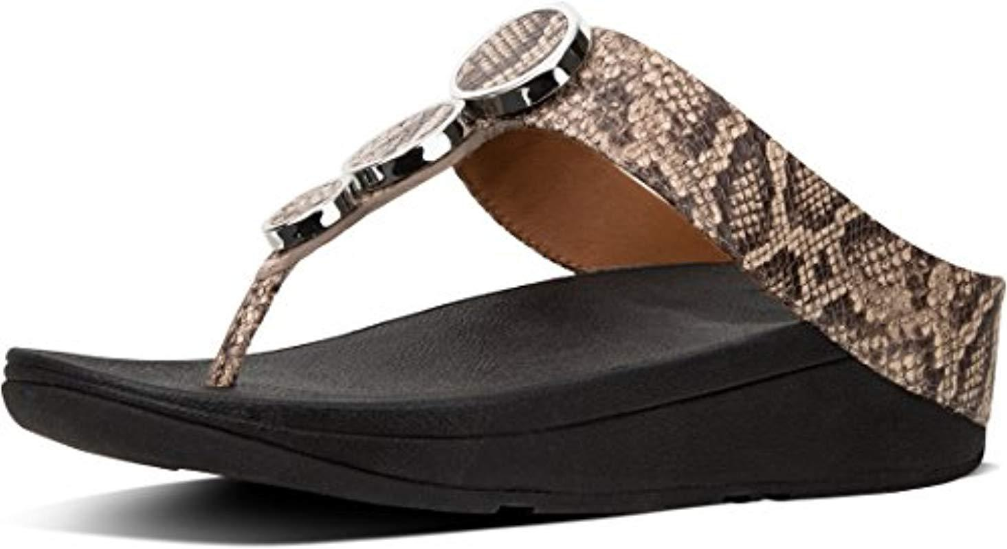 d48bf8a7a9b3 Fitflop Halo Toe Thong Sandals Platform in Brown - Lyst