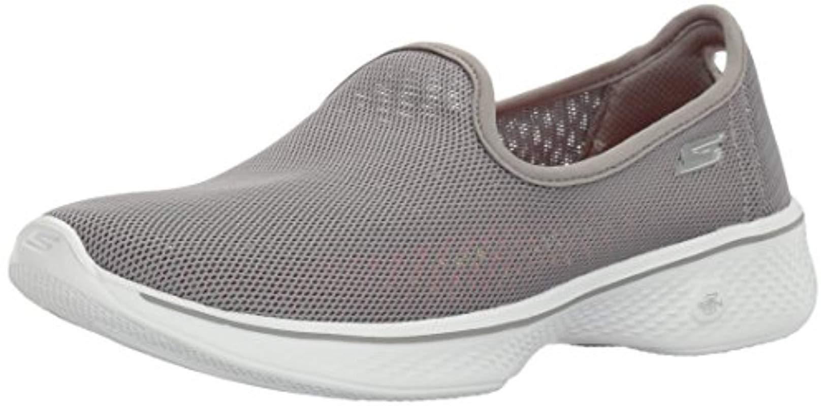 de87141c23b4 Lyst - Skechers Go Walk 4-airy Shoe in Gray
