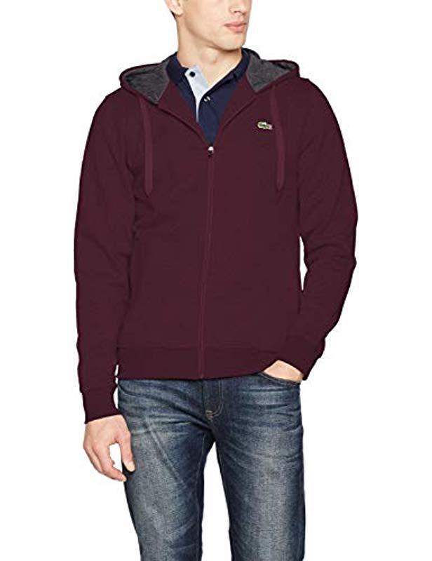 163b7142ef54 Lacoste Sh7609 Long Sleeve Sweatshirt in Purple for Men - Save 1% - Lyst