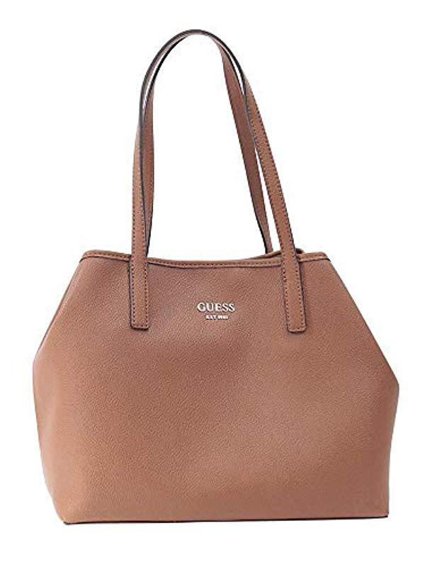 6da7c8baabc5 Lyst - Guess  s Vikky Tote Shoulder Bag in Brown - Save 30%