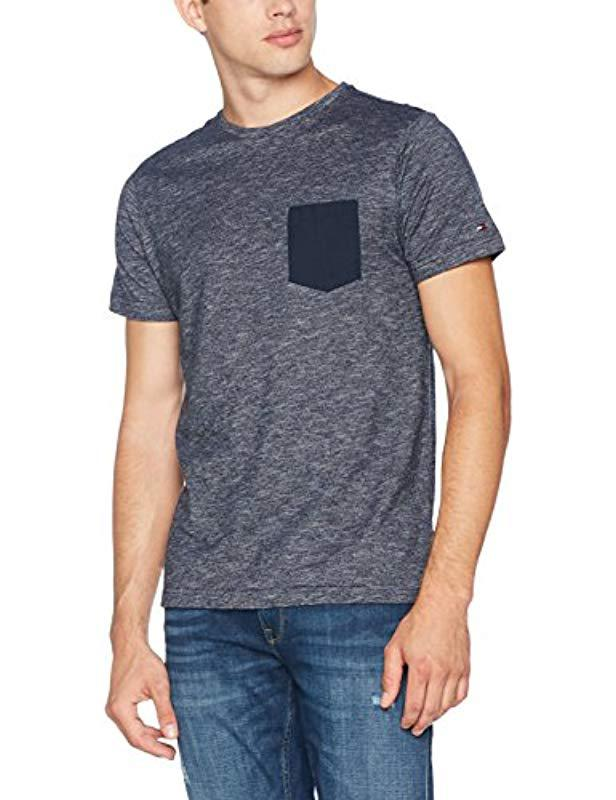 8a727c9c Tommy Hilfiger Denton Pocket C-nk Tee S/s Rf T - Shirt in Blue for ...