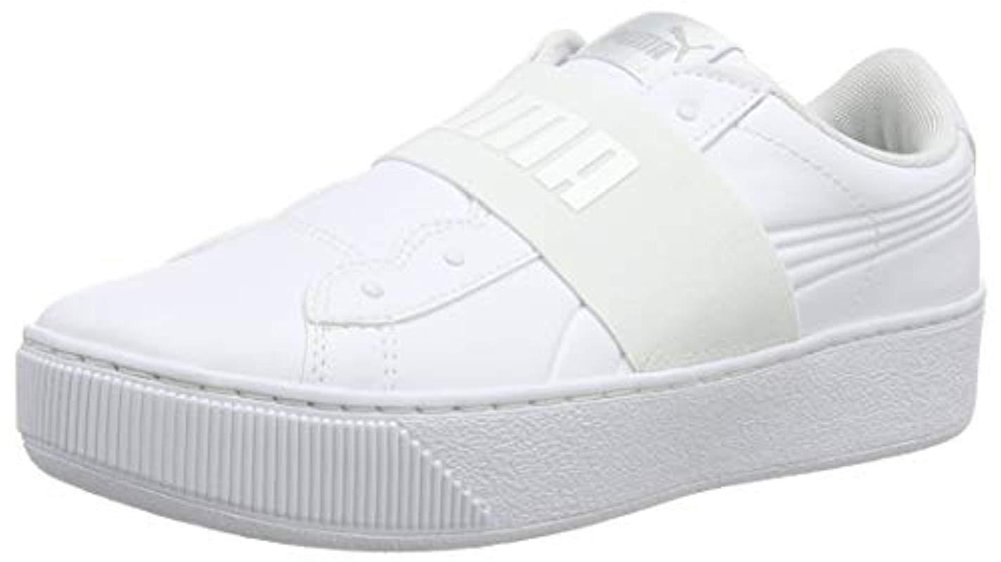 PUMA Vikky Platform Elastic Low-top Sneakers in White - Lyst 016436ec0