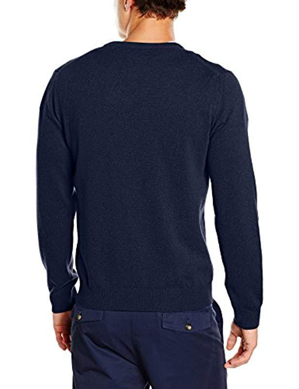 59f1bbd49 Gant Super Fine Lambswool V-neck Jumper in Blue for Men - Lyst