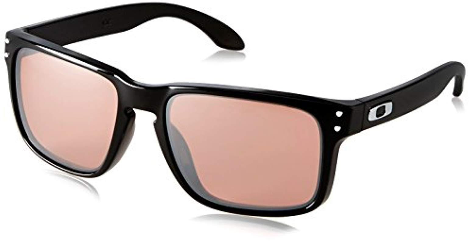 cbbe0d03216c9 Oakley. Men s Black Holbrook Non-polarized Iridium Rectangular Sunglasses