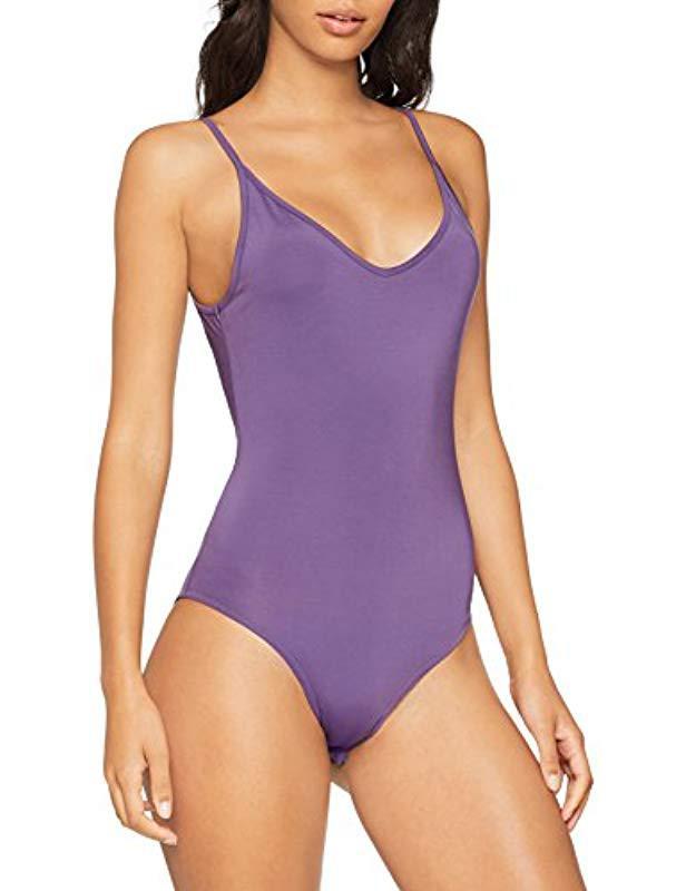 d29ad4a478 Cheap Monday - Purple Inner Bodysuit Hacker Stamp Vest Top - Lyst. View  fullscreen