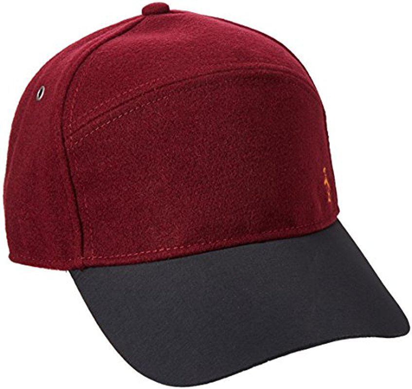 Lyst - Original Penguin Melton Wool Baseball Cap in Red for Men dc1dead02998