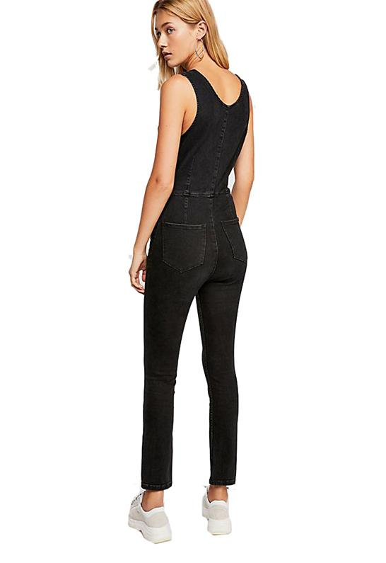 276f27d2bc8 Free People - Scarlett Jumpsuit In Black - Lyst. View fullscreen
