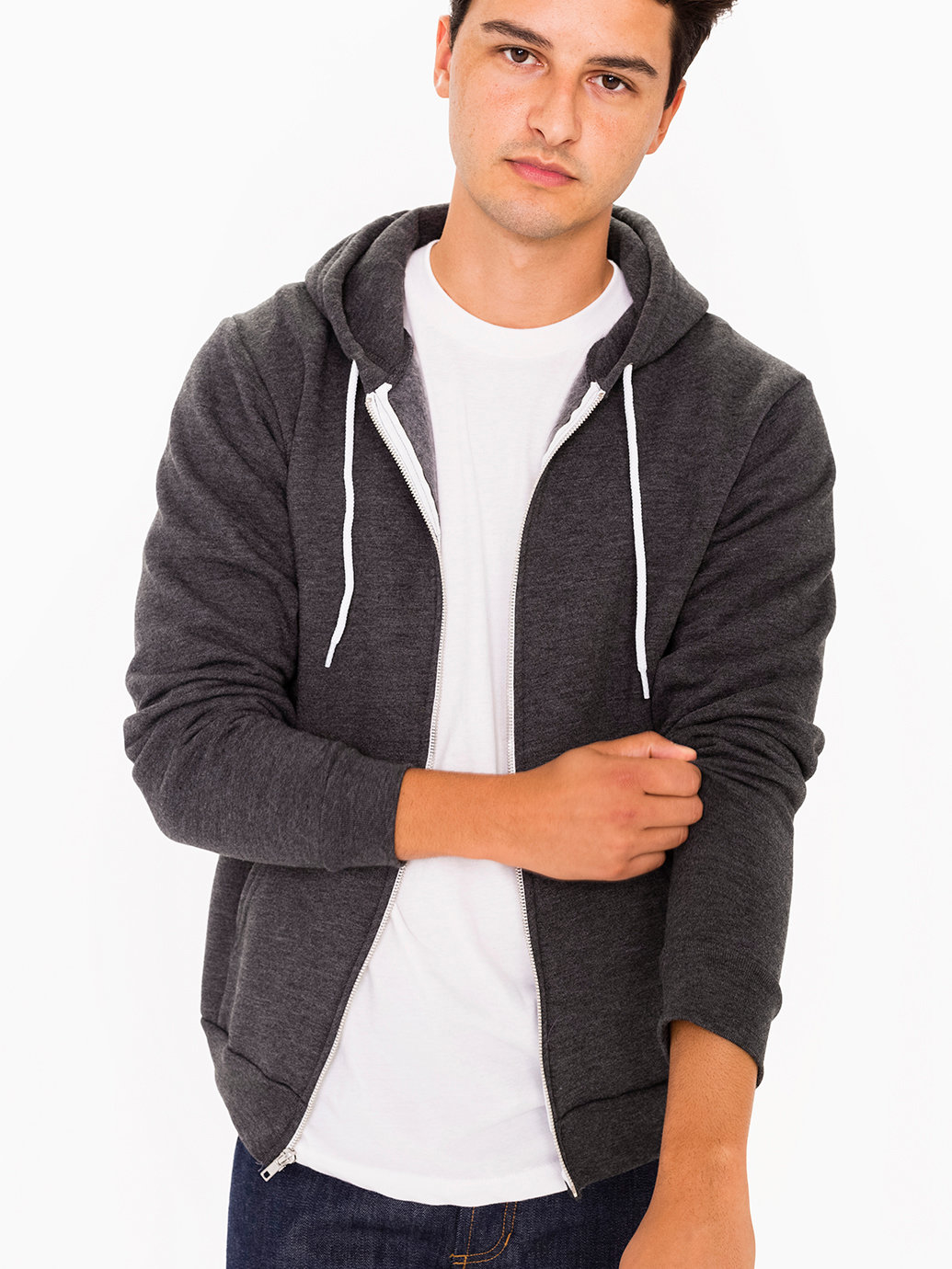 american apparel flex fleece jacket blook