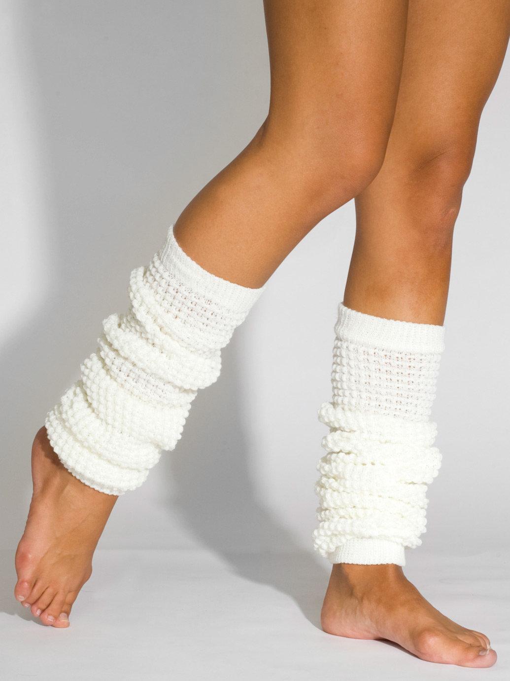 American Apparel Long Leg Warmer In White (Cru00e8me) | Lyst