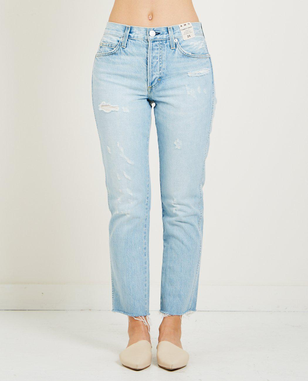 cropped tomboy jeans - Blue Amo 0zIjwh