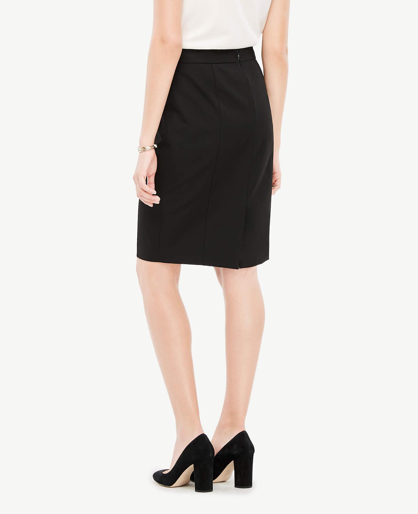 84db30d19 Ann Taylor Curvy All-season Stretch Seamed Pencil Skirt in Black - Lyst