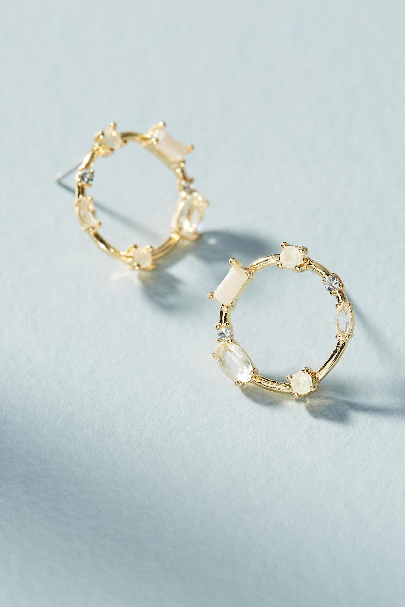 Anthropologie Cerise Petite Hooped Post Earrings sQj3Frz