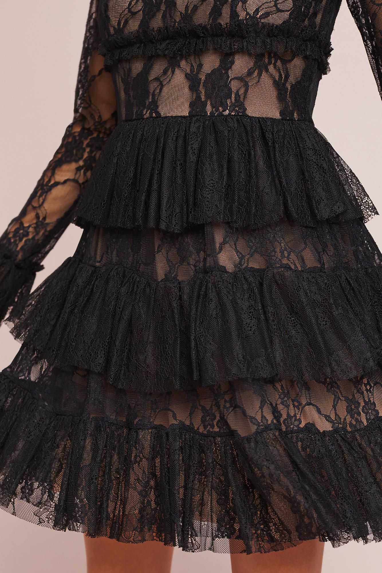 Bailey 44 tweed dress with lace