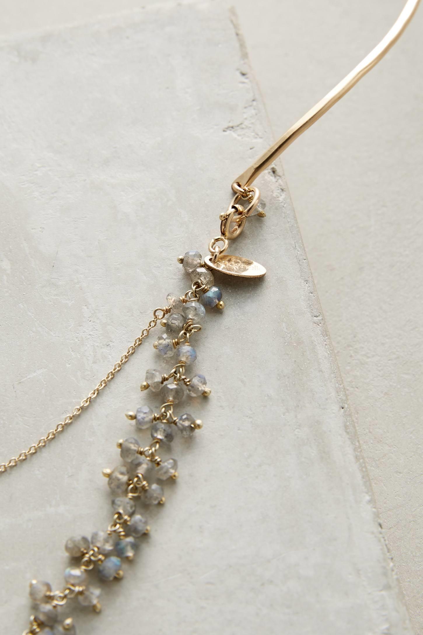 nashelle seastone collar necklace in metallic lyst