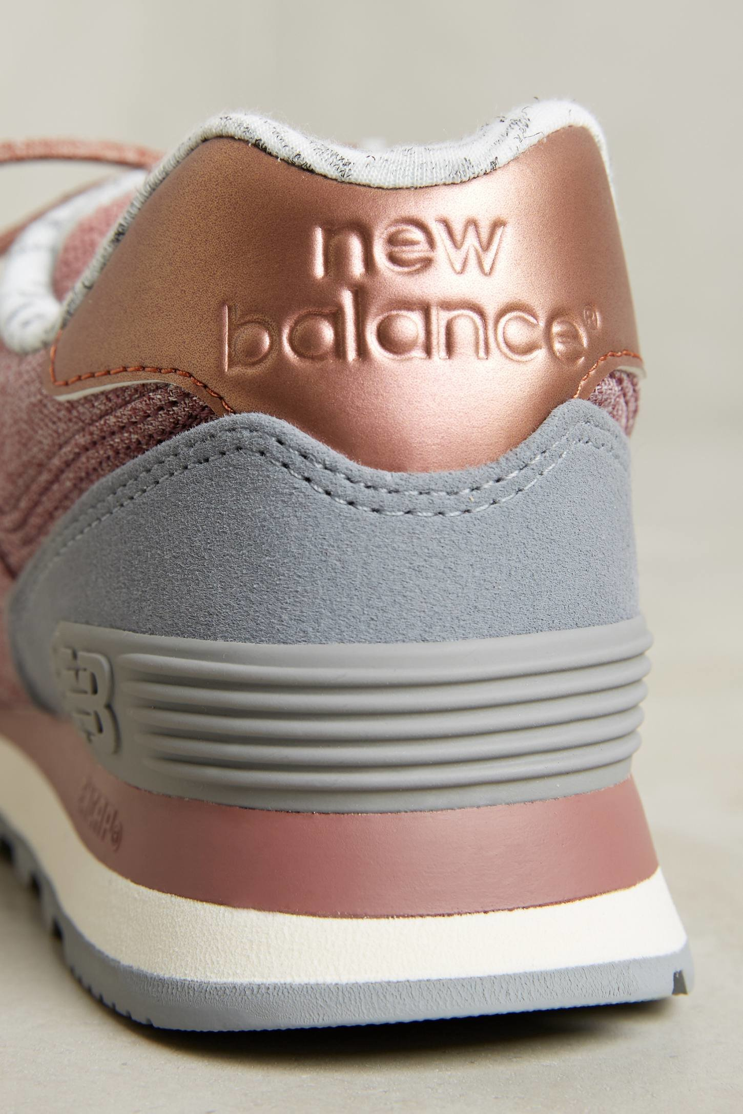 new balance grey and rose gold 574