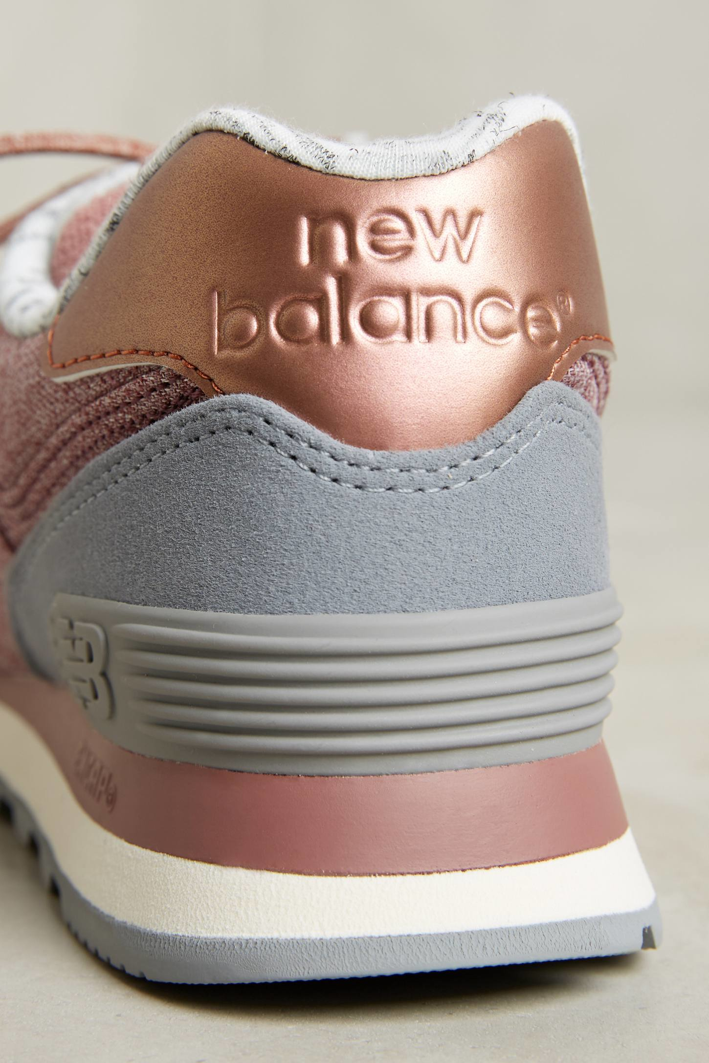 lyst new balance new blance 574 rose gold sneakers. Black Bedroom Furniture Sets. Home Design Ideas
