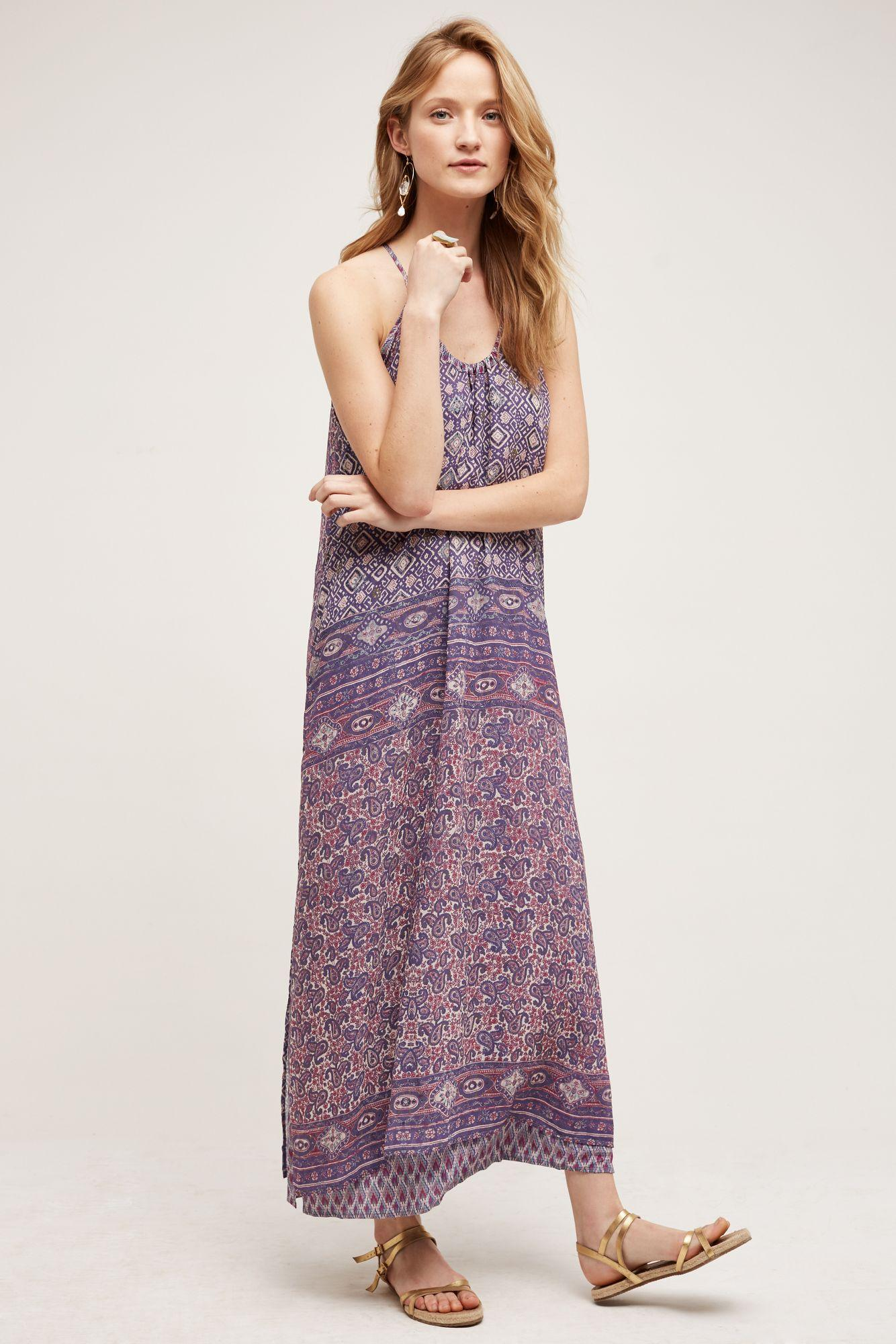 Scoop neck maxi dress anthropologie clothing