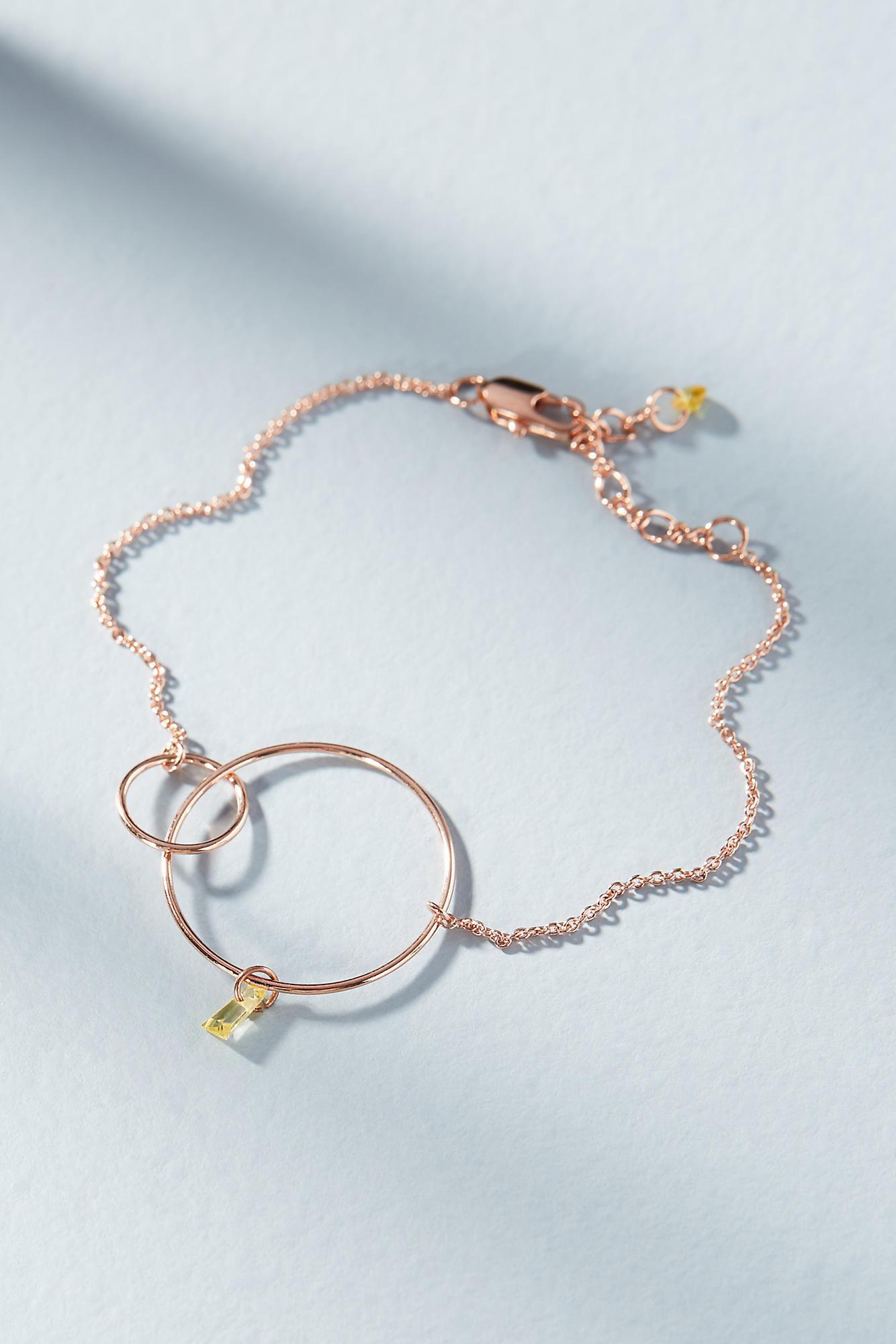 Anthropologie Hula Hoop Birthstone Bracelet eQWJyD
