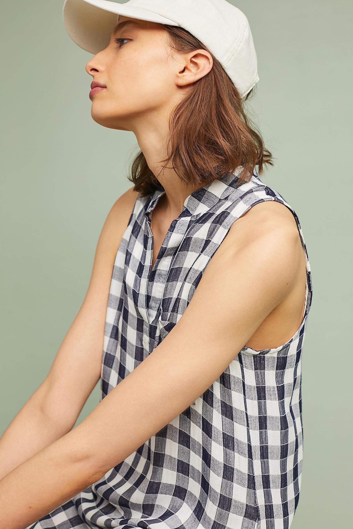 a5e7e4704a Cloth   Stone Maroney Shirtdress in Blue - Lyst