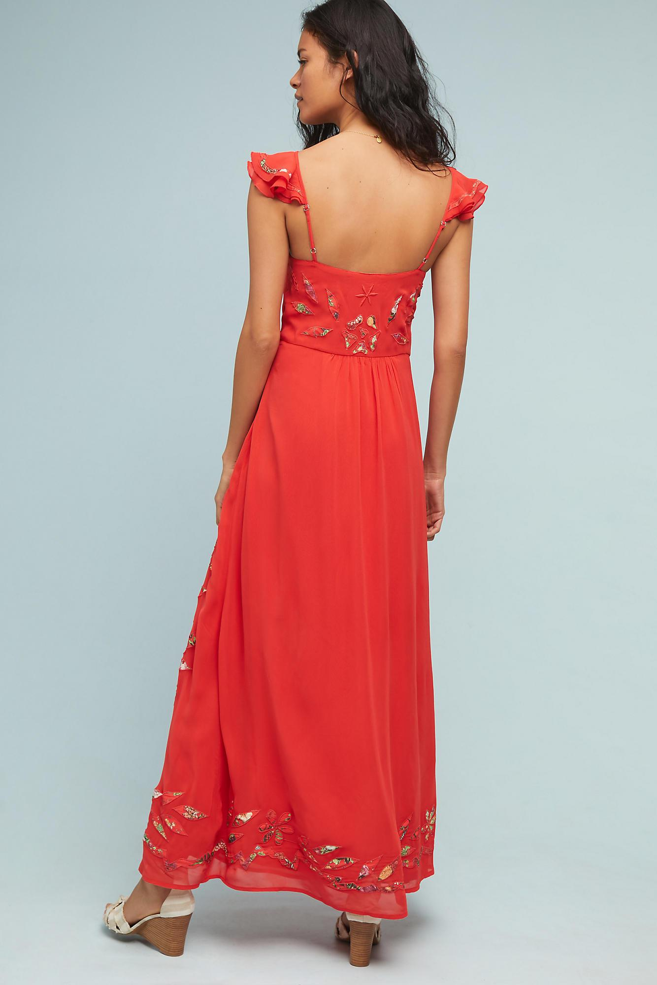 150e2770bca62 FARM Rio Quintana Maxi Dress in Red - Lyst