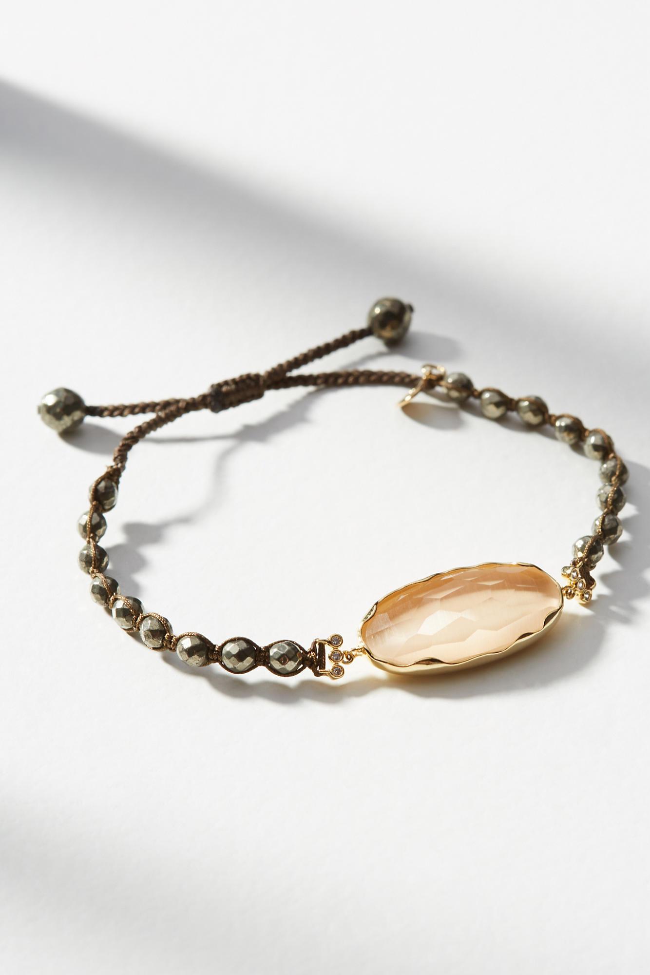 Anthropologie Demi Stone Bracelet sxxfv