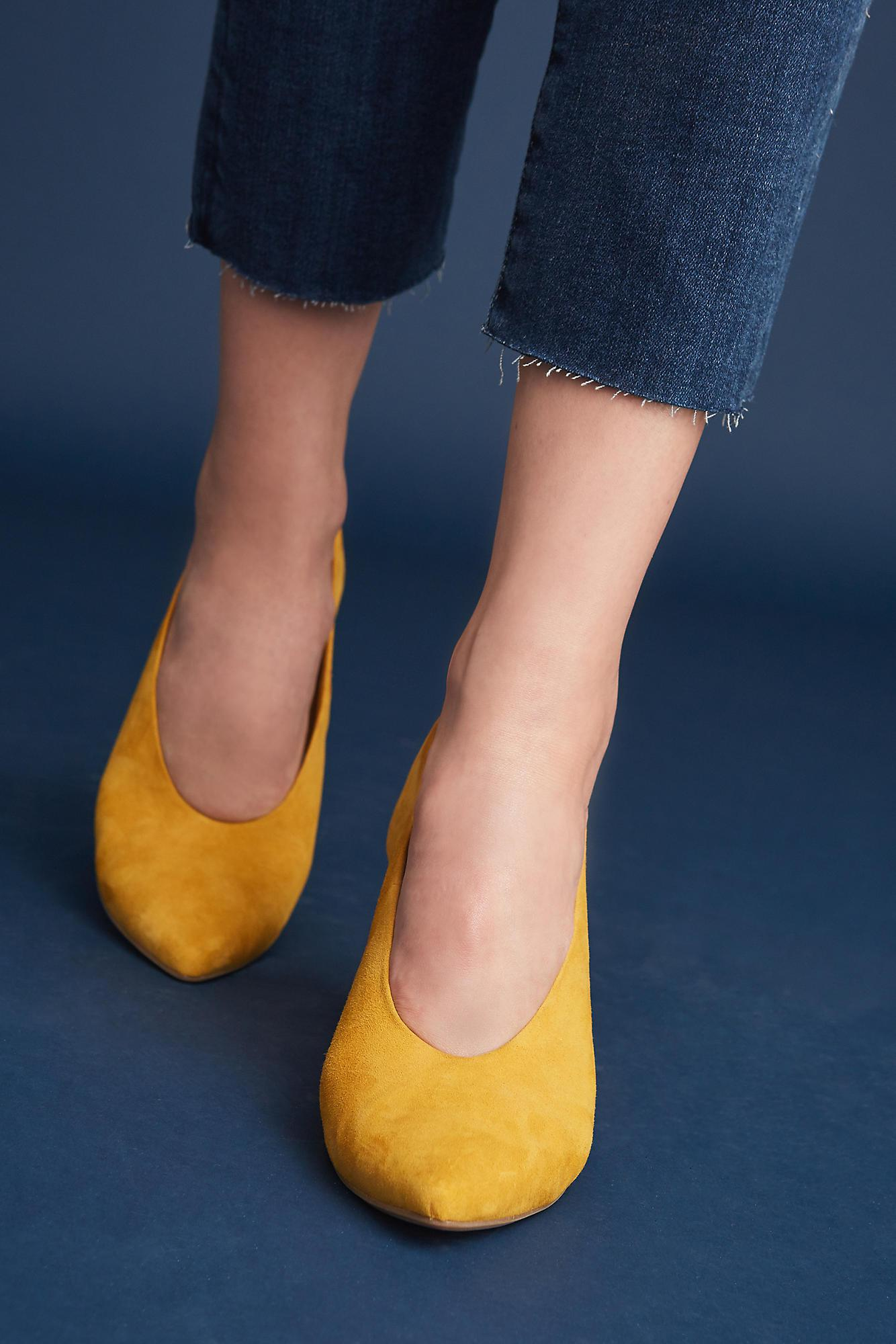cb1bca15b67c Anthropologie Seychelles Rehearse Heels in Yellow - Lyst