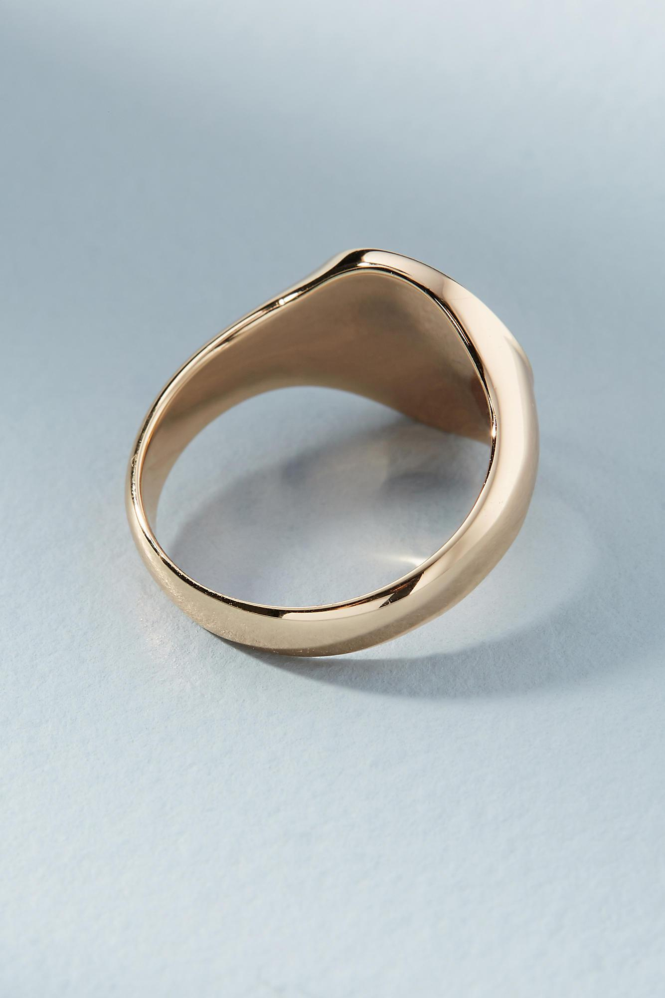 Melanie Auld Round Signet Ring SNxrQDY