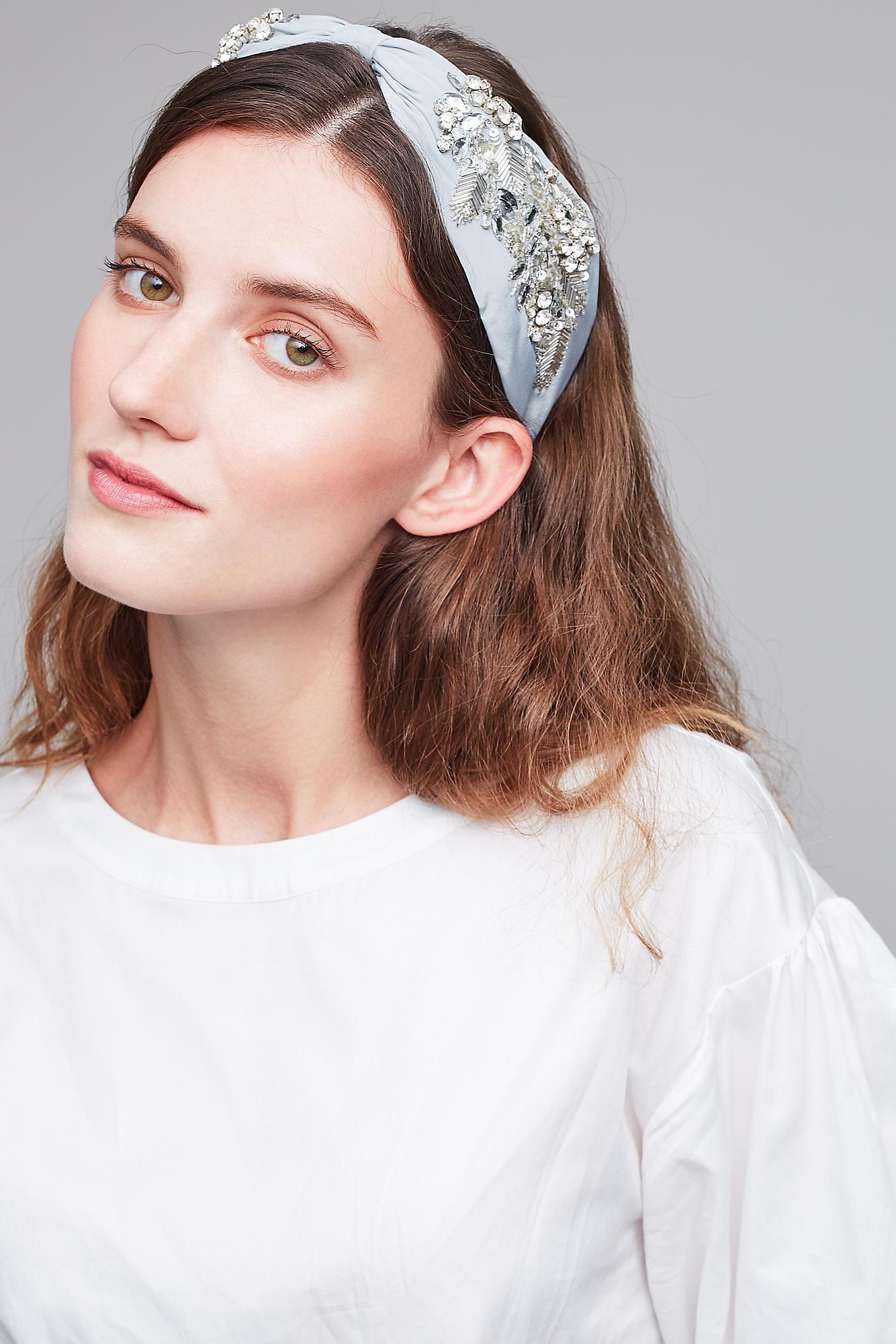 Anthropologie Crystal Embellished Headband in Blue - Lyst 147db296a19