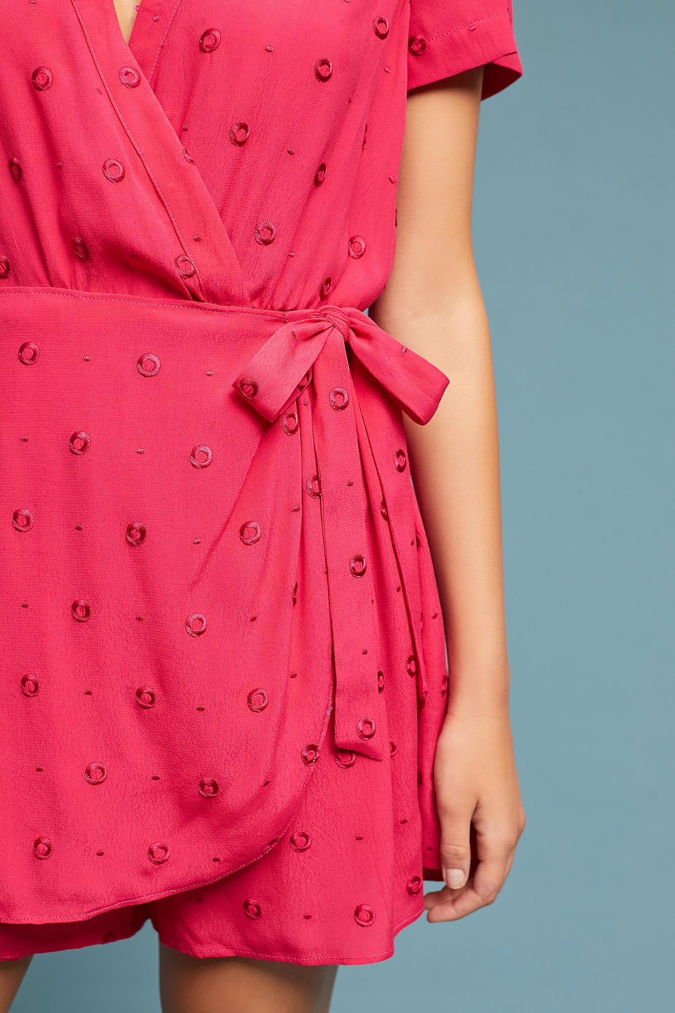 bf1eb96f0c0f Ett:twa Greenbrier Embroidered Romper in Pink - Lyst