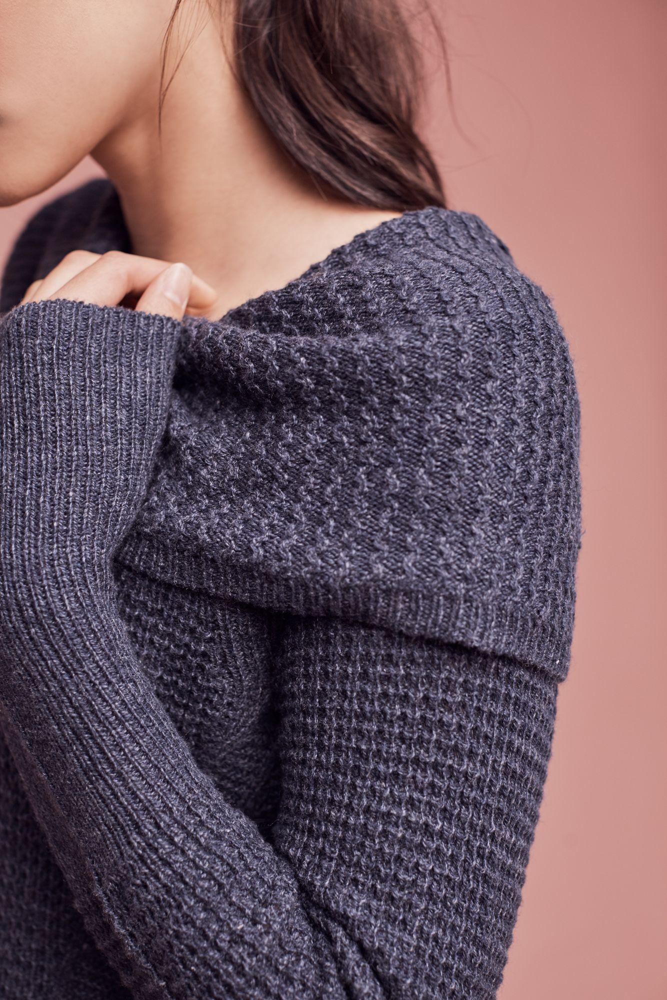 Angel of the north Rosie Cowl-neck Jumper, Navy in Blue | Lyst