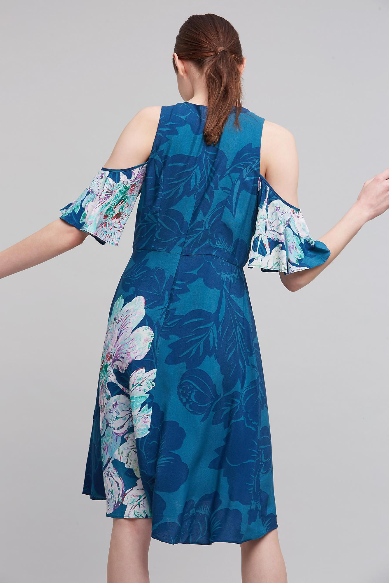 57fe47434301 Maeve Elia Open-shoulder Dress in Blue - Lyst