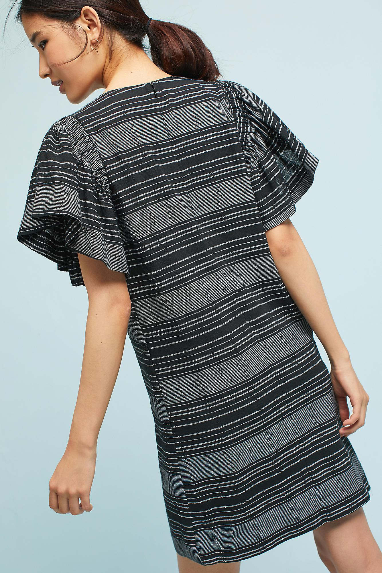 Anthropologie Cotton Denmark Striped Tunic Dress Black Lyst