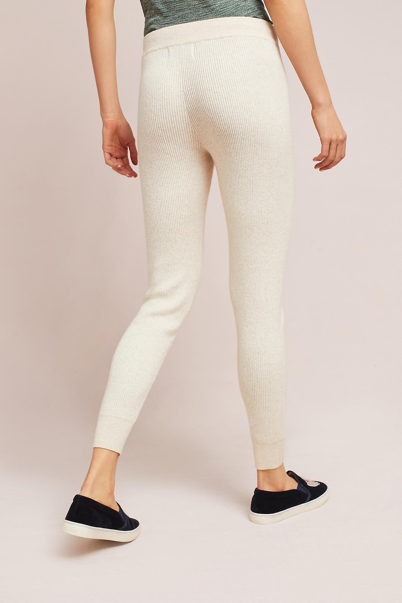 Hansel from basel Ribbed Sweater Leggings in Natural | Lyst