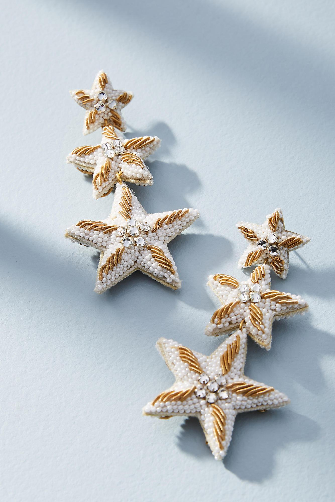 Suzanna Dai Caicos Starfish Drop Earrings ESC3aG