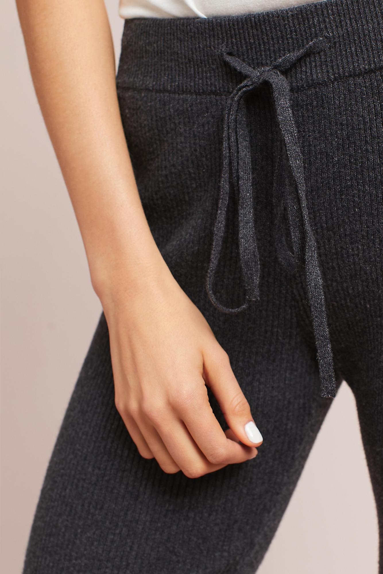 Hansel from basel Ribbed Sweater Leggings in Gray | Lyst
