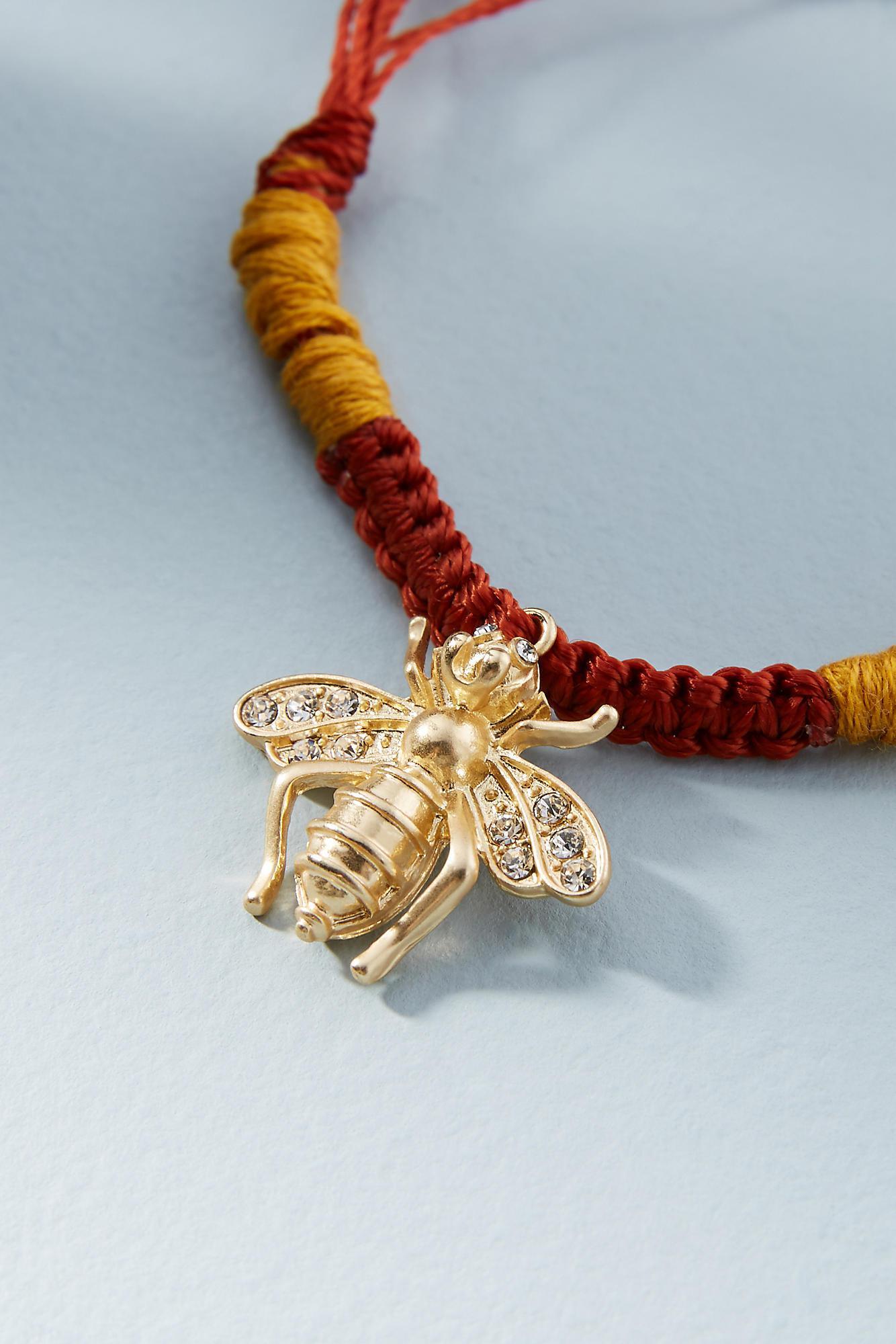 Anthropologie Woven Charm Bracelet XUm5Acx