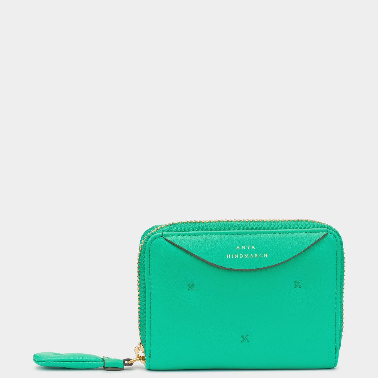 Chubby small zip around wallet - Green Anya Hindmarch 1t2YdWrYf