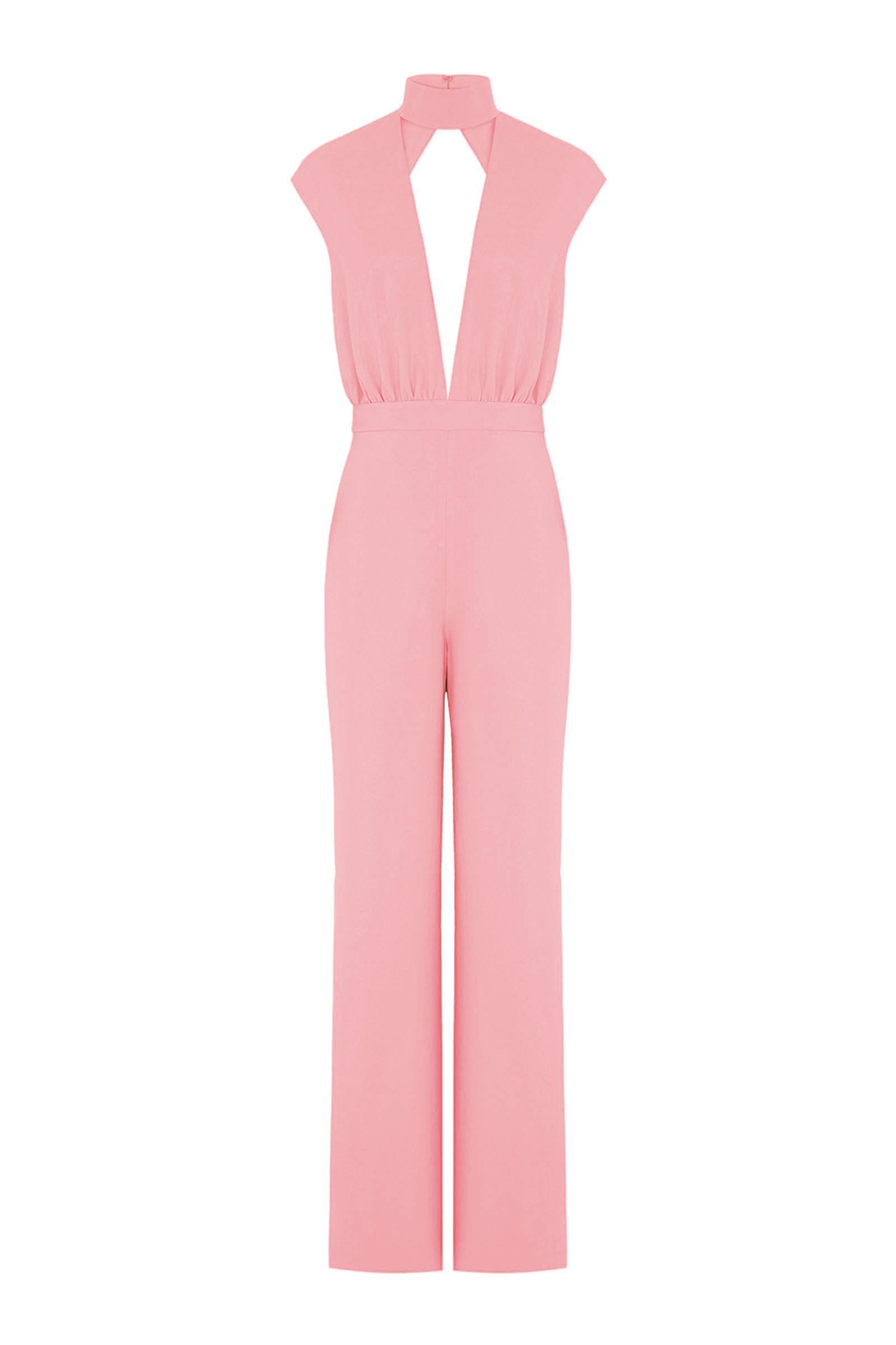 87ff5630e51 Lyst - AQ AQ Dakota Keyhole Jumpsuit in Pink