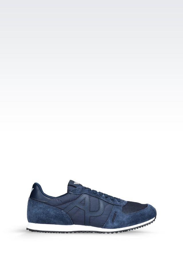 armani jeans sneaker in blue for men lyst. Black Bedroom Furniture Sets. Home Design Ideas
