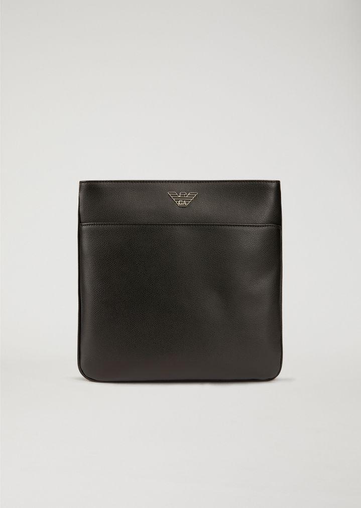 Emporio Armani Eagle Print Homme Cross Body Bag Noir ilFbN3Bq