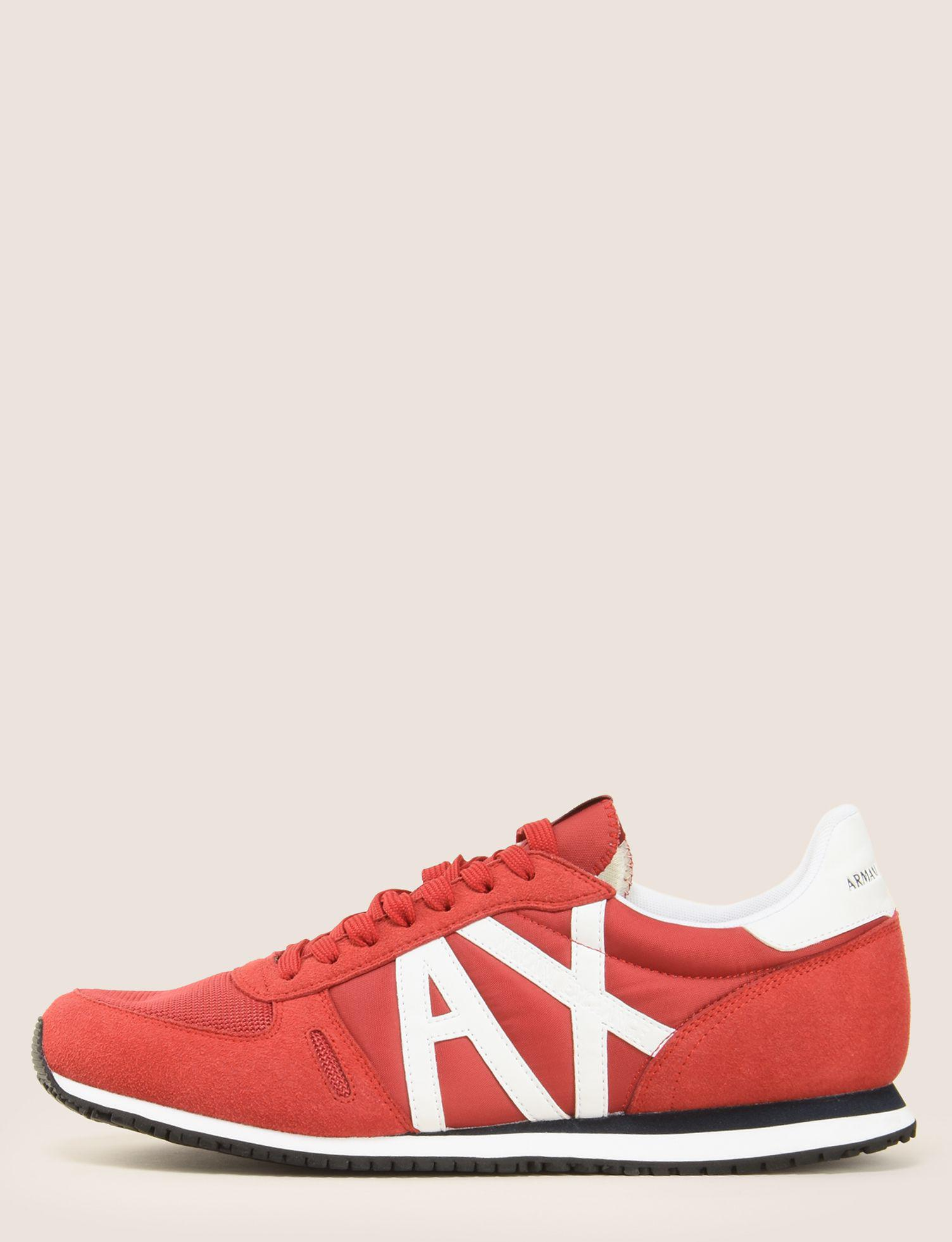 low-top sneakers - Red Armani