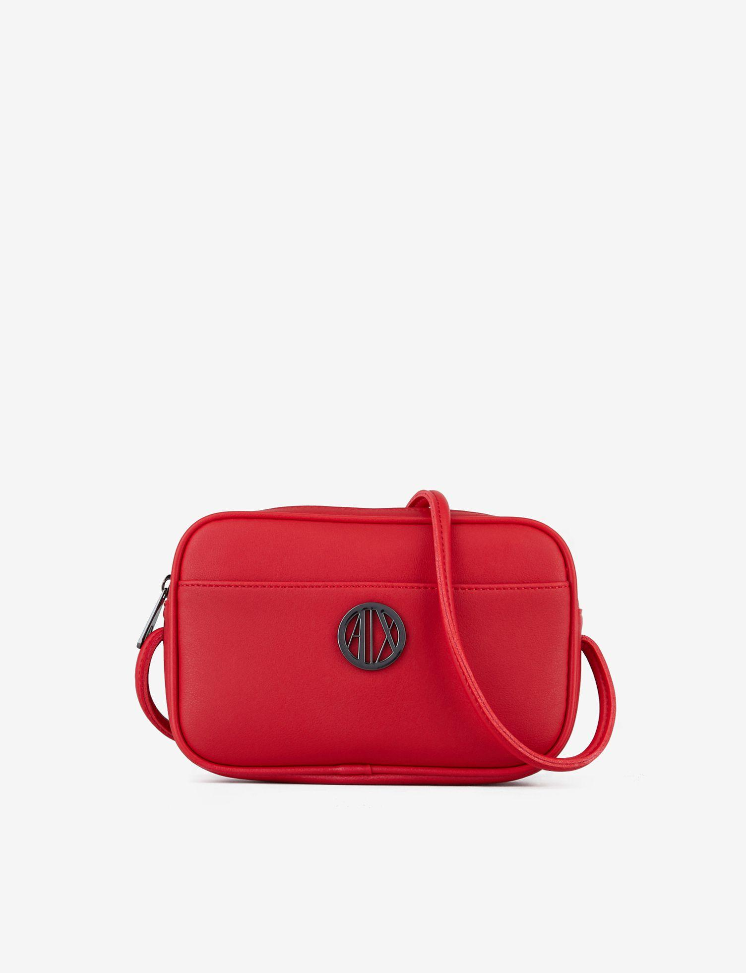 0621ef1c506a Lyst - Armani Exchange Crossbody With Appliqué Logo in Red
