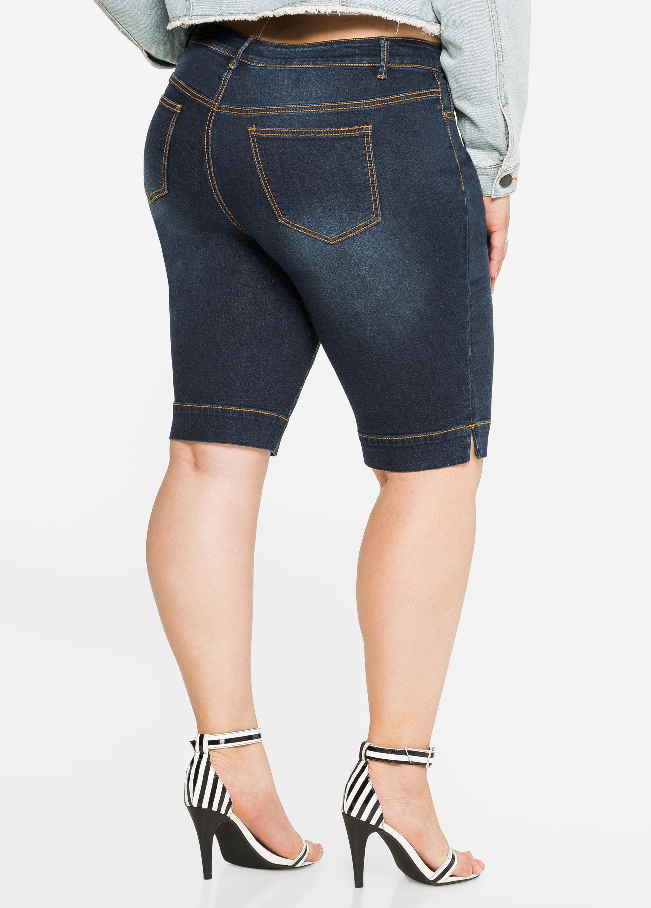 4d151a4aca8 Ashley Stewart Denim Bermuda Shorts in Blue - Lyst