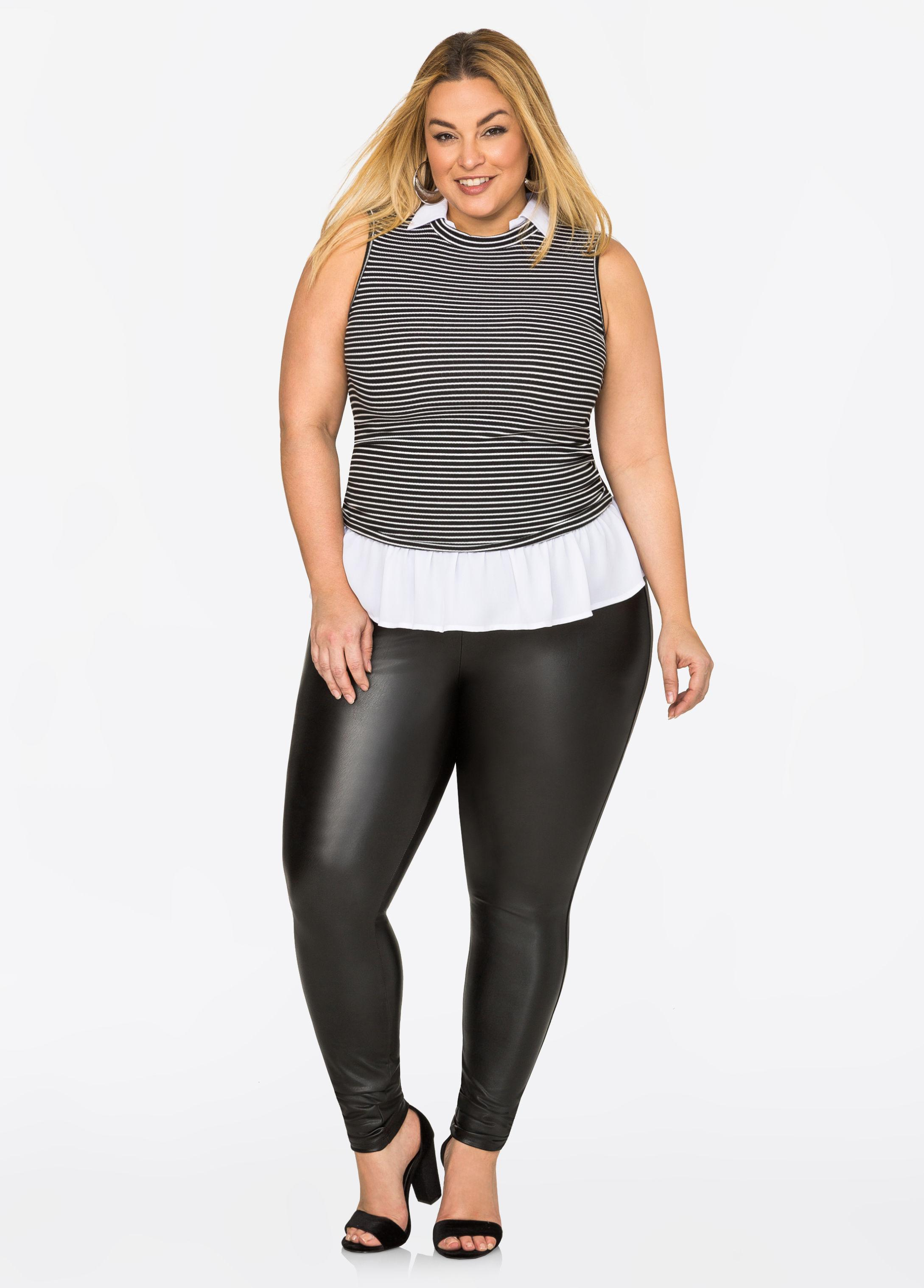 8ba7ee60638 Gallery. Previously sold at  Ashley Stewart · Women s Faux Leather Pants ...