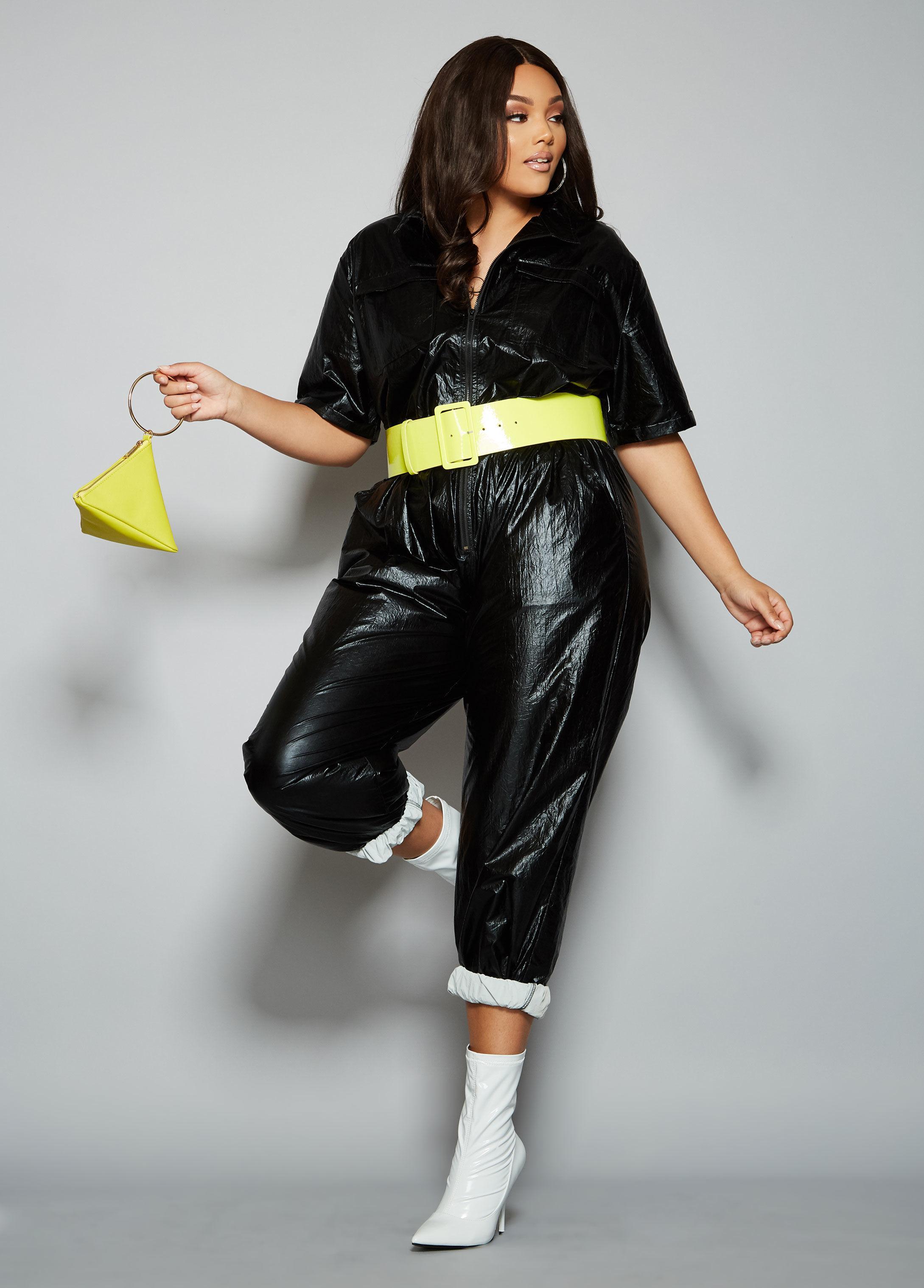 d2669fcc388c Lyst - Ashley Stewart Plus Size The Willow Jumpsuit in Black