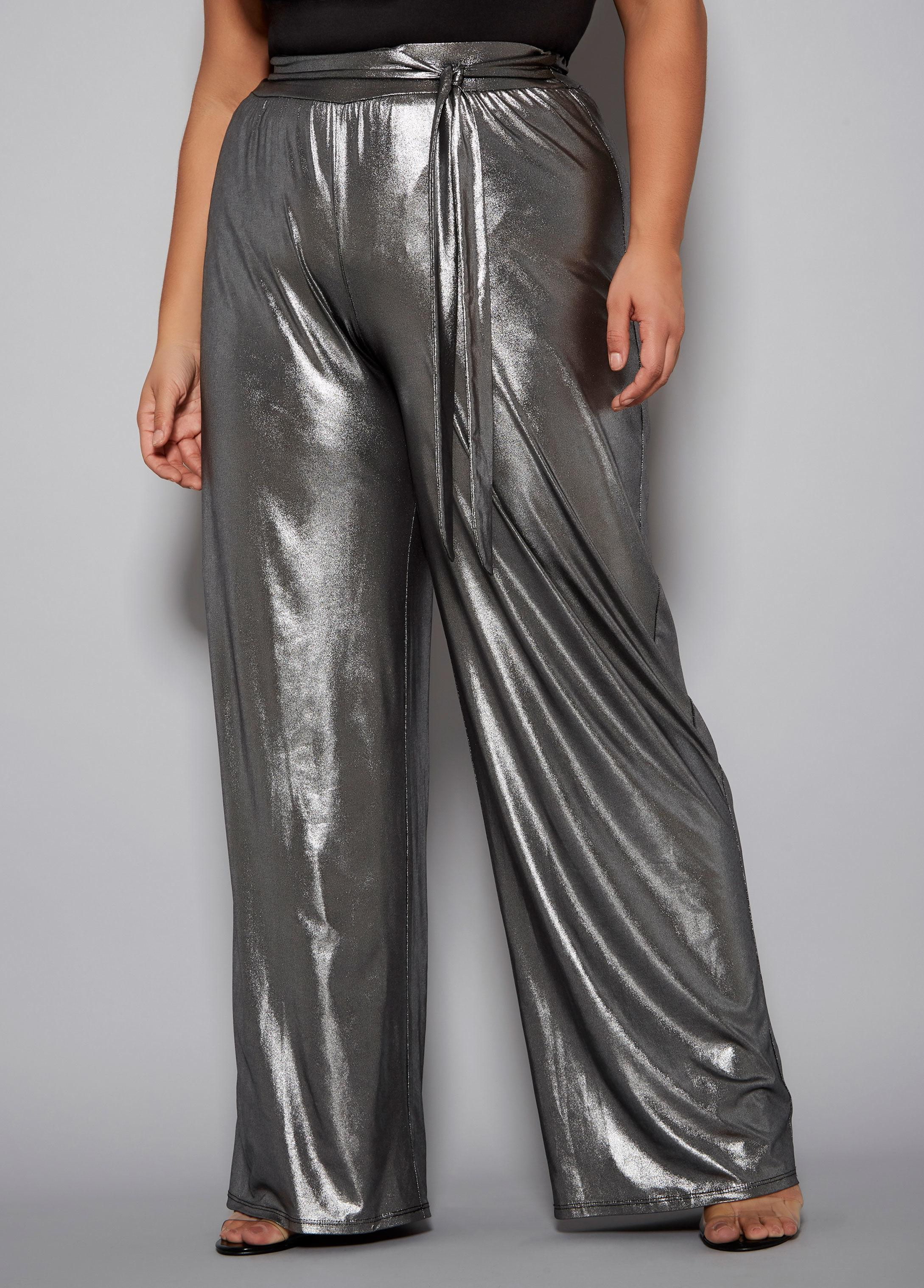 cdbaa7986171f Lyst - Ashley Stewart Plus Size The Sienna Pant in Metallic
