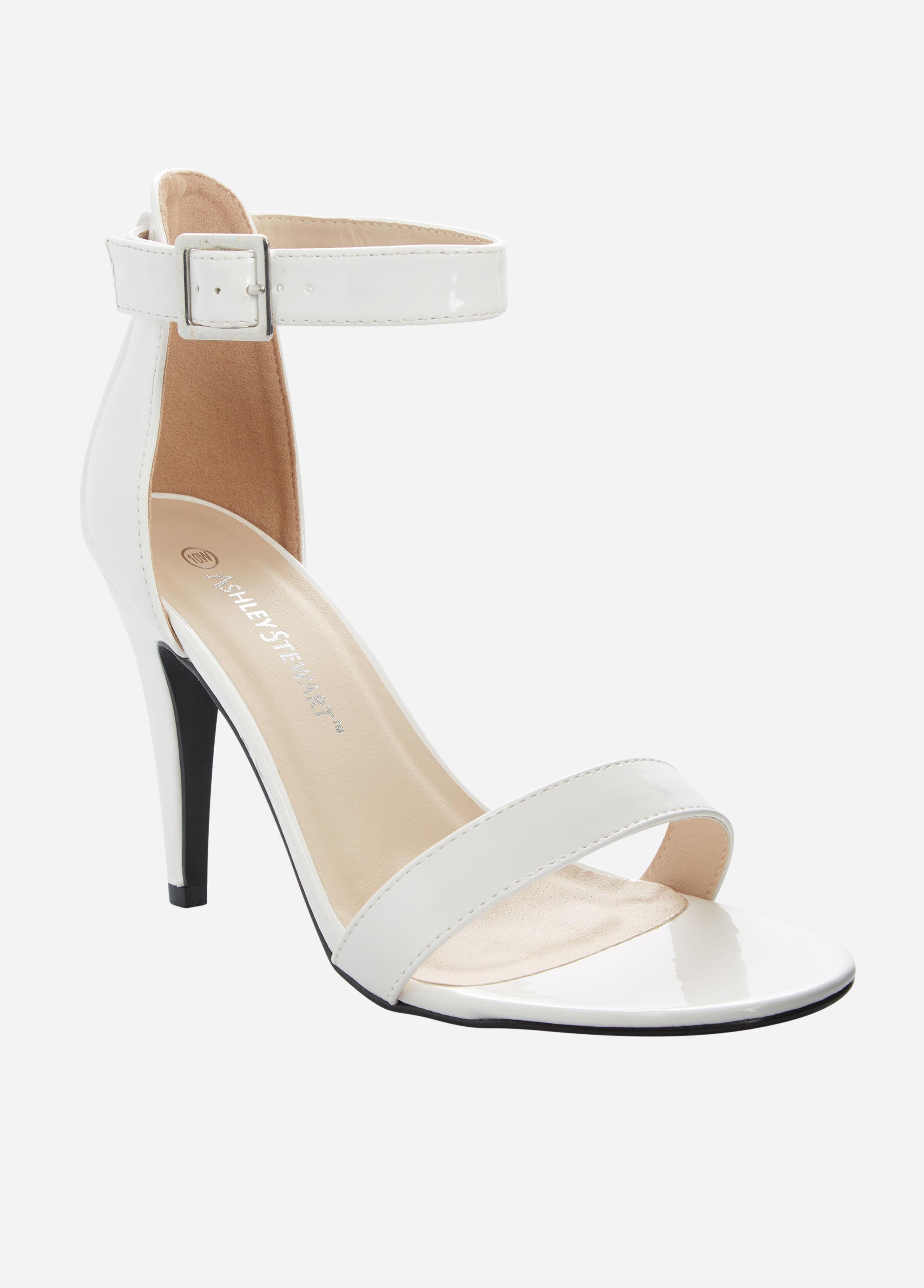 776cc18286c8 Lyst - Ashley Stewart Open Toe Heeled Sandal - Wide Width in White