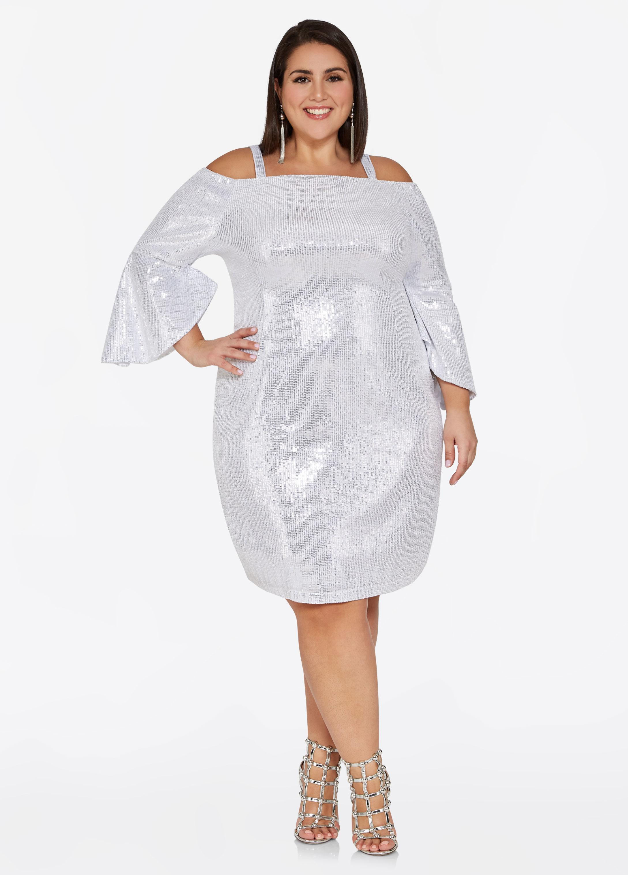 4dea2da075d Gallery. Previously sold at  Ashley Stewart · Women s White Cocktail Dresses  ...